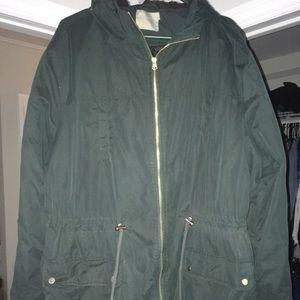ASOS forest green coat parka jacket size 22